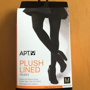 Apt 9 Plush Lined Tights Sz Medium